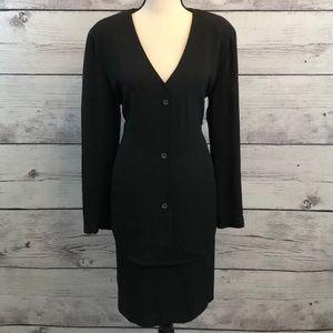 Giorgio Armani Le Collezioni Black Skirt Suit 14